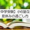 【関西中学受験】オススメ問題集と夏休みの過ごし方