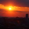 明石海峡付近の 夕陽。