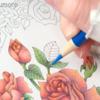 【動画公開】(緑色編)ダイソー塗り絵「花の国」を赤・青・黄の色鉛筆3色で塗ってみた