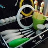 私が使っているジャグリング道具。色、サイズ、バッグ、道具収納ケース。