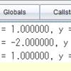 平面に適当に置いた n 個の質点の重心が原点に来るよう各質点の座標を設定し直す