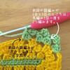 編み方解説|楕円形ドイリーの編み図より