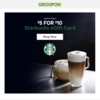 【お得クーポン】GrouponでStarbucks $5 for $10
