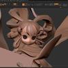 天穂のサクナヒメ 3Dプリント用モデリング ポージングはこんなもんかと終える