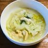 玉ねぎと鶏肉のスープ
