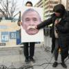 韓国の反応, 親北団体、米大使館近くで「ハリス斬首大会」決行