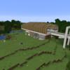【Minecraft】木の駅をつくる③ 完成・外構編【コンパクトな街をつくるよ3】