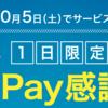 【1日限定】PayPay感謝デーで最大20%戻ってくる!?