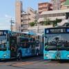 連節バス・特快25番、小倉~三萩野間の車内