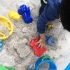 簡単に作れるおうち砂場と、遊び方いろいろ。