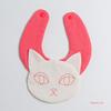 白猫スタイ|型紙と作り方あり!そのまんま猫!これぞ猫!