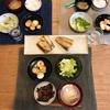 ごはん、鯖、山芋のバター醤油炒め、白菜のサラダ、大根の味噌汁、(おとな)焼いたレバー