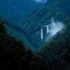 国道169号線、奈良県吉野郡川上村にある伯母谷ループ橋へ
