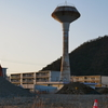 県営尾崎団地の給水塔。岐阜県最後の1基。