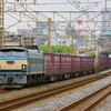 4月27日撮影 東海道線 平塚~大磯間 貨物列車 ゼロロク 64 200 金太郎 4本