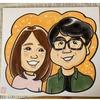 ご夫婦の手描き似顔絵