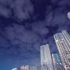 韓国のとある町の夜のビル群を撮影②
