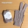 三つ子お豆の手袋、編んでいます(*^^*)