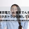 【節約】楽天でんき 一人暮らしは損なのか?~東京電力 vs 楽天でんき比較してみた~
