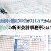 面倒な確定申告が月1万円からできる!格安の新田会計事務所とは?