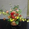 #5『秋の訪れ』ケイトウを使ったフラワーアレンジ (生花☆9月後半のレッスン)