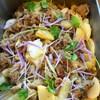 豚肉と二種のお芋のスウィートチリソース