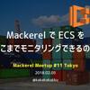 Mackerel Meetup #11 で「ECS モニタリング」の事例紹介をしてきた