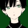 【フリーイラスト素材】黒髪ショート×レオパード柄ニットの女の子