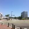 姪浜、百道浜周辺は、夏にオススメ。福岡の緑と海の青を両方楽しめる。