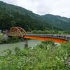 手取川渓谷に架かる鋼橋