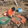 竹の屋根の掘っ建て小屋と五右衛門風呂を作る(前編)