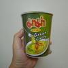 タイのグリーンカレーヌードルは、マーマー辛かった!