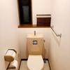 絶対にチラシをポスティングされないステッカーと確実にトイレが綺麗になるステッカーを貼りました!
