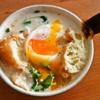 豆乳スープの朝、ピカタ弁当。