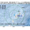 2017年09月01日 05時59分 奄美大島近海でM3.3の地震