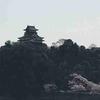 犬山城と桜を、木曽川河畔遊歩道から見る、撮影する。