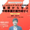 「基礎から学ぶ中期事業計画作成ゼミ」の講師を務めます(4/13〜、東京+オンライン)