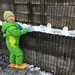 名古屋の初雪は、スキーウエアで出社
