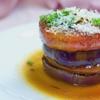 丸茄子トマトのステーキ