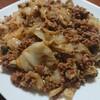 キャベツと挽き肉の甘味噌あんかけ丼