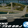 【PMDG】737NGX Expansion Package用 オーシア国防空軍塗装 BBJ(737-700)