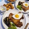 今日の晩ごはん:コロナ禍自粛飯~大鶏排(ダージーパイ)&イカ団子~