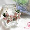 新商品のお知らせ ~ ぷっくり♡お花のマクラメピアス~ピンク×ホワイト ~