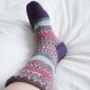 マルティナさんの靴下、片方完成。