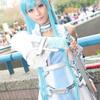 Beautiful Japanese woman with europe sword,Asuna Yuuki's cosplayⅠ.(SAOの結城明日奈に扮し、剣を構える美しい日本人女性 其の一)