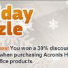 Acronis製品、英語版でよければ30%引き