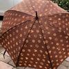 雨上がりの合間わずかな時間ですけど、傘干しています。