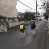 2人で通った通学路も今日が最後です
