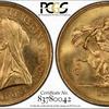 イギリス1893年ヴィクトリアヴェールド5ポンド金貨MS64