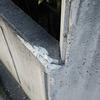 車がこすった外構コンクリート塀の傷補修美装